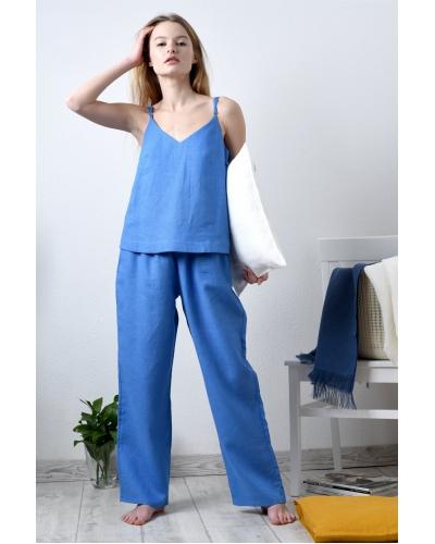 Костюм льняной в пижамном стиле