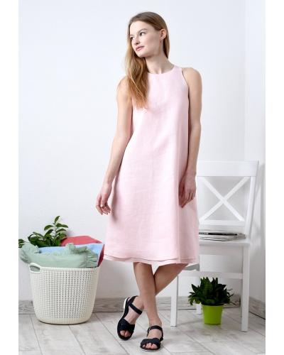 Платье из льна двухслойное
