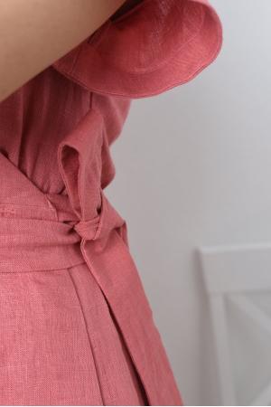 Платье льняное на запах