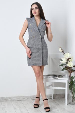 Платье жакет из льна