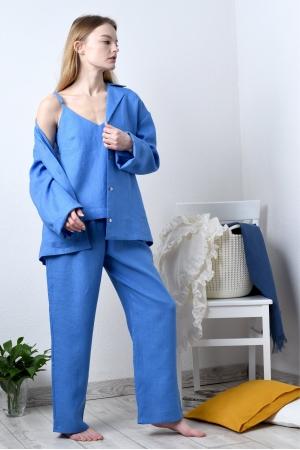 Пижама женская тройка из льна