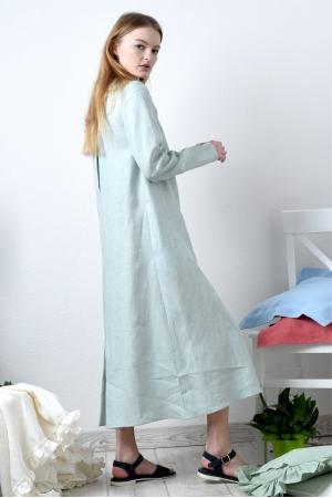 Платье рубашка из тонкого льна