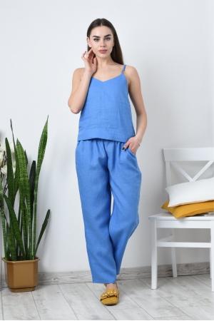 Льняной костюм пижама