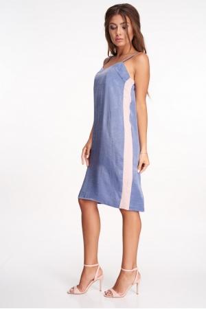 Платье комбинация шелковое с лампасами