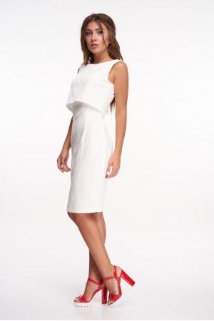 Платье двойка из белого жаккарда