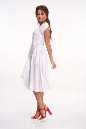 Платье с запахом в мелкий горошек