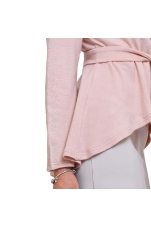 Кардиган розовый с воланом