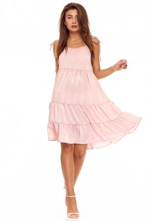 Шелковое платье нежно-розовый жемчуг