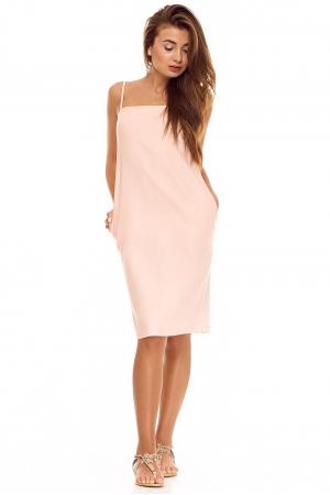 Льняное платье пудрового цвета