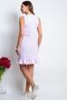 Платье из льна прямое с воланом сиреневое