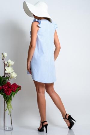 Платье удлиненное из хлопка в полоску
