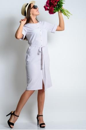 Платье тренч с коротким рукавом