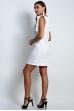 Прямое платье из льна белое