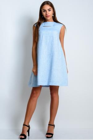 Платье клеш из льна