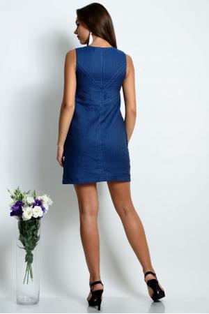 Прямое платье из тонкого льна