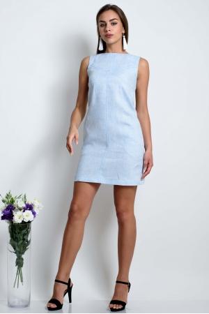 Платье прямое из тонкого льна