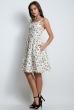 Платье льняное с цветочным принтом