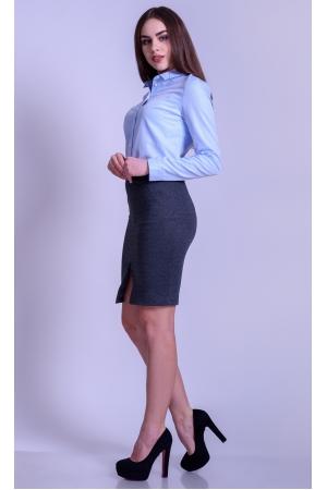 Рубашка женская приталенная голубая