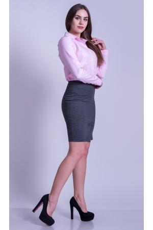 Рубашка женская приталенная розовая