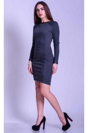Платье футляр с удлиненной юбкой