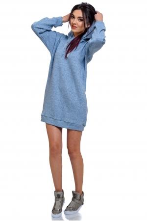 Платье худи удлиненное с капюшоном