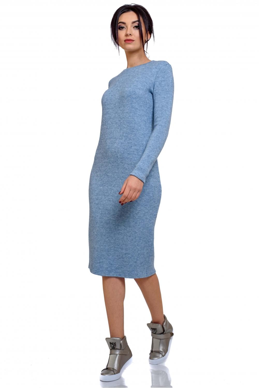 f04995e4ad3a Платье теплое голубое трикотажное