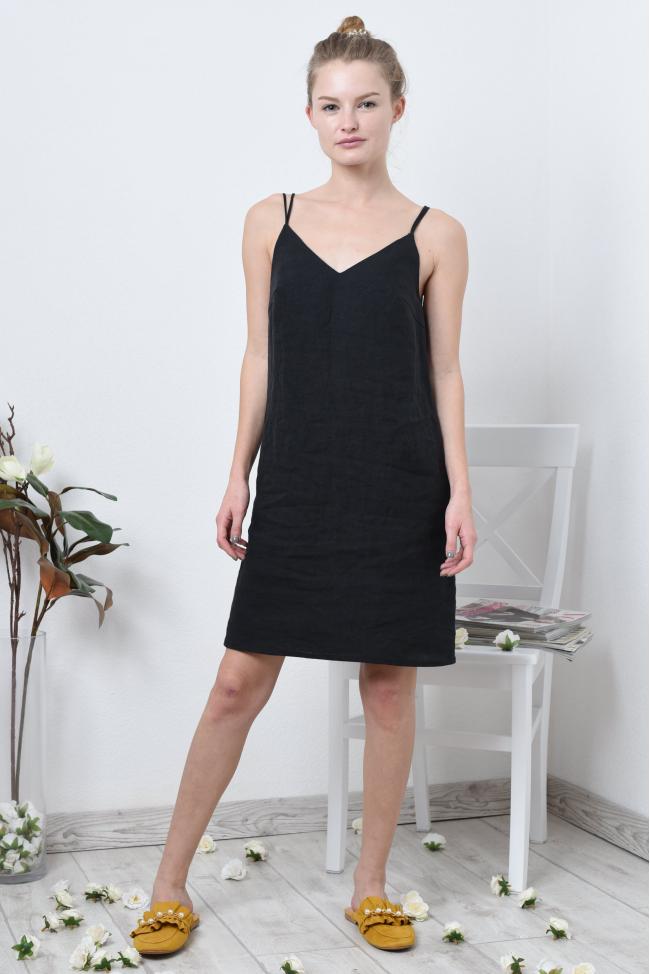 Платье комбинация из льна