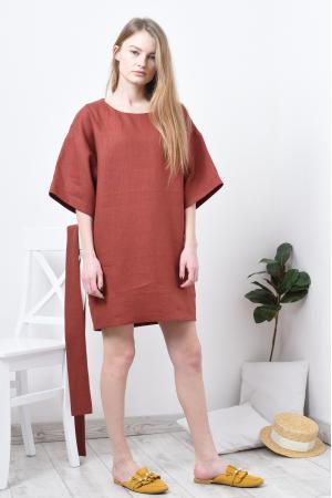 Платье туника из льна