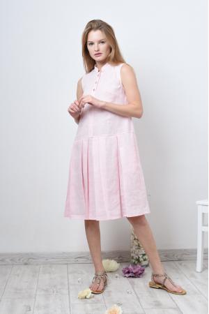 Платье рубашка без рукава