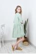Свободное льняное платье с укороченным рукавом