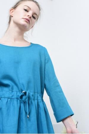 Платье льняное на завязках