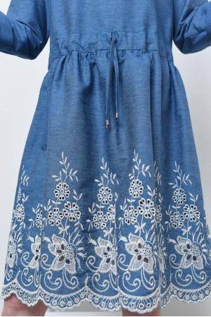 Платье хлопковое с вышивкой